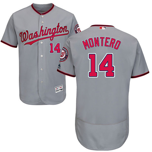Washington Nationals #14 Miguel Montero Grey Flexbase Authentic Collection Stitched MLB Jersey