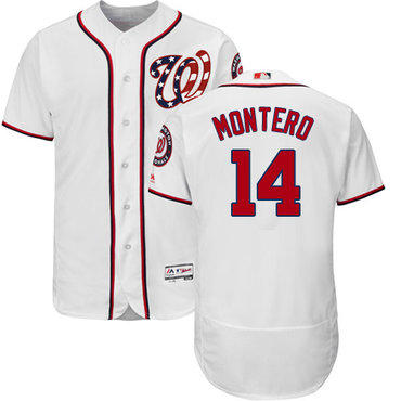 Washington Nationals #14 Miguel Montero White Flexbase Authentic Collection Stitched MLB Jersey