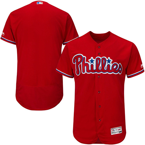 Philadelphia Phillies Blank Red Flexbase Authentic Collection Stitched MLB Jersey