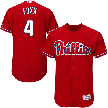 Philadelphia Phillies #4 Jimmy Foxx Red Flexbase Authentic Collection Stitched MLB Jersey