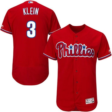 Philadelphia Phillies #3 Chuck Klein Red Flexbase Authentic Collection Stitched MLB Jersey