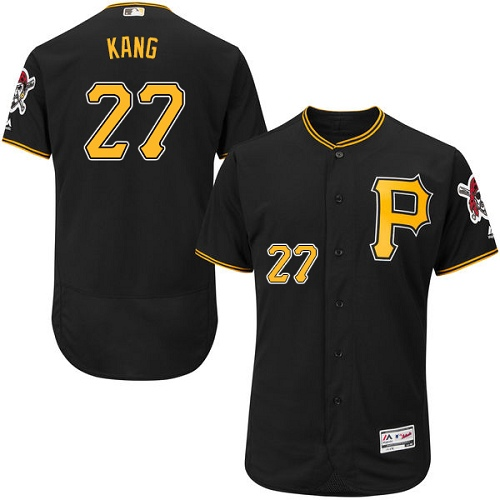 Pittsburgh Pirates #27 Jung-ho Kang Black Flexbase Authentic Collection Stitched MLB Jersey