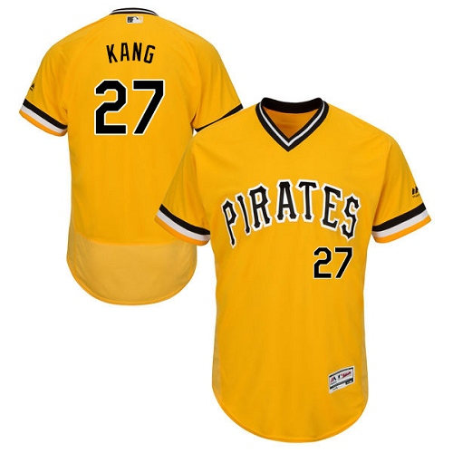 Pittsburgh Pirates #27 Jung-ho Kang Gold Flexbase Authentic Collection Stitched MLB Jersey