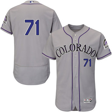 Colorado Rockies #71 Wade Davis Grey Flexbase Authentic Collection Stitched MLB Jersey