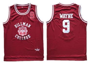 Hillman College Theater Dwayne Wayne Red Stitched Movie Jersey