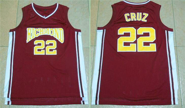 Richmond Oilers 22 Timo Cruz Home Coach Carter Movie Stitched Jersey