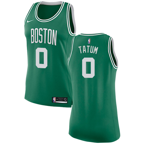 Nike Boston Celtics #0 Jayson Tatum Green Women's NBA Swingman Icon Edition Jersey