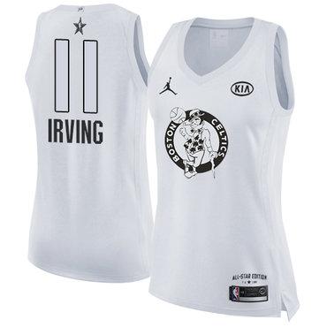 Nike Boston Celtics #11 Kyrie Irving White Women's NBA Jordan Swingman 2018 All-Star Game Jersey