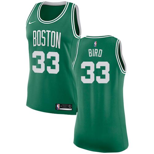 Nike Boston Celtics #33 Larry Bird Green Women's NBA Swingman Icon Edition Jersey