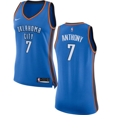 Nike Oklahoma City Thunder #7 Carmelo Anthony Blue Women's NBA Swingman Icon Edition Jersey