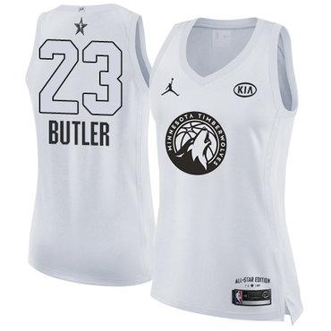 Nike Minnesota Timberwolves #23 Jimmy Butler White Women's NBA Jordan Swingman 2018 All-Star Game Jersey