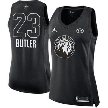Nike Minnesota Timberwolves #23 Jimmy Butler Black Women's NBA Jordan Swingman 2018 All-Star Game Jersey