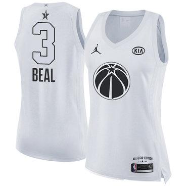 Women's Nike Washington Wizards #3 Bradley Beal White NBA Jordan Swingman 2018 All-Star Game Jersey