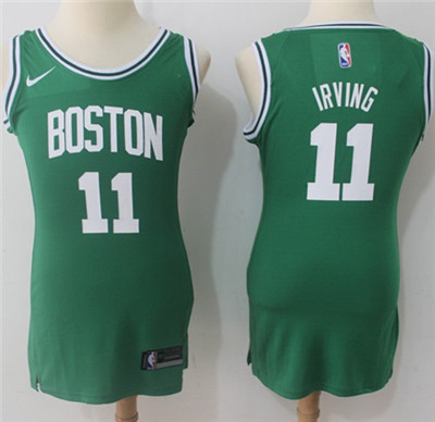 Nike Boston Celtics #11 Kyrie Irving Green Women's NBA Swingman Icon Edition Jersey