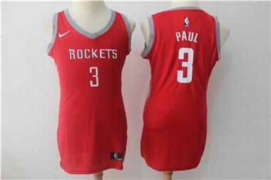 Nike Houston Rockets #3 Chris Paul Red Women Swingman Jersey