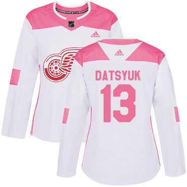 ... sale adidas detroit red wings 13 pavel datsyuk white pink authentic  fashion womens stitched nhl jersey 3824b53bf