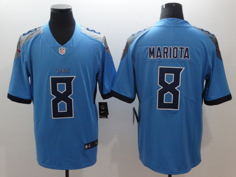 Nike Tennessee Titans 8 Marcus Mariota Light Blue New 2018 Vapor Untouchable Limited Jersey