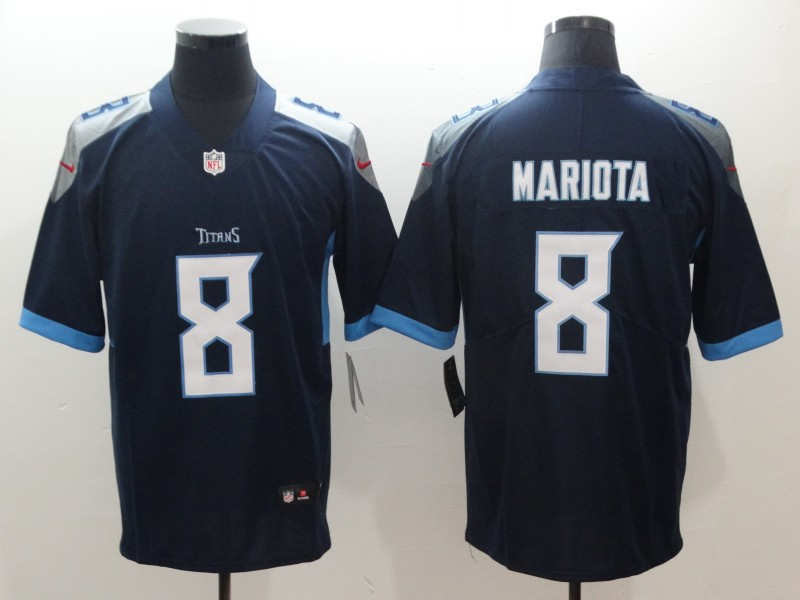 Nike Tennessee Titans 8 Marcus Mariota Navy New 2018 Vapor Untouchable Limited Jersey