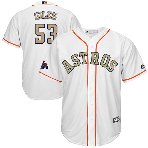 Houston Astros #53 Ken Giles White 2018 Gold Program Cool Base Stitched MLB Jersey