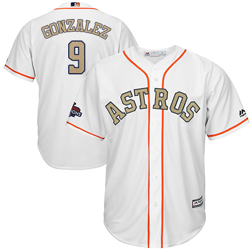 Houston Astros #9 Marwin Gonzalez White 2018 Gold Program Cool Base Stitched MLB Jersey