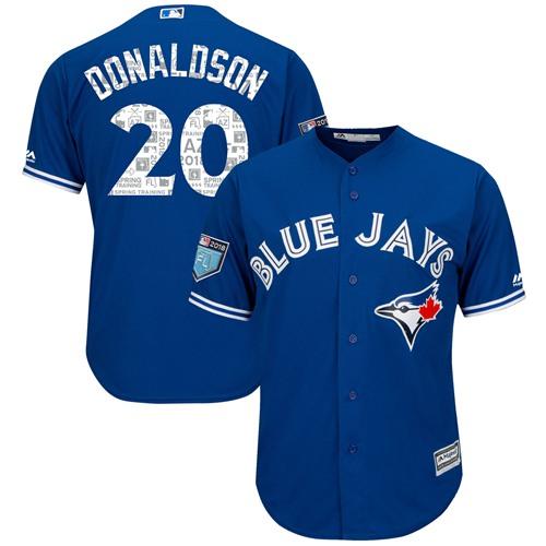 Toronto Blue Jays #20 Josh Donaldson Blue 2018 Spring Training Cool Base Stitched MLB Jersey