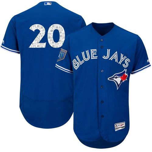 Toronto Blue Jays #20 Josh Donaldson Blue 2018 Spring Training Authentic Flex Base Stitched MLB Jersey