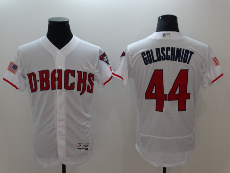 Arizona Diamondbacks #44 Paul Goldschmidt White Flexbase Jersey