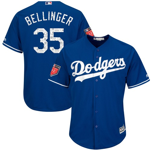 Los Angeles Dodgers #35 Cody Bellinger Blue 2018 Spring Training Cool Base Stitched MLB Jersey