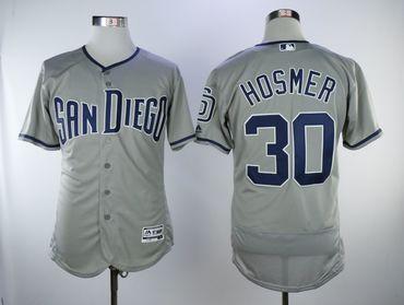 sale retailer 8d95d e9b82 San Diego Padres #30 Eric Hosmer Gray Flexbase Jersey on ...