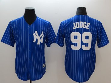 New York Yankees #99 Aaron Judge Blue Cool Base Jersey