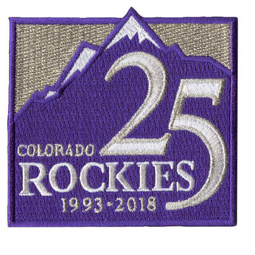 Colorado Rockies 25th Anniversary Alternate Patch