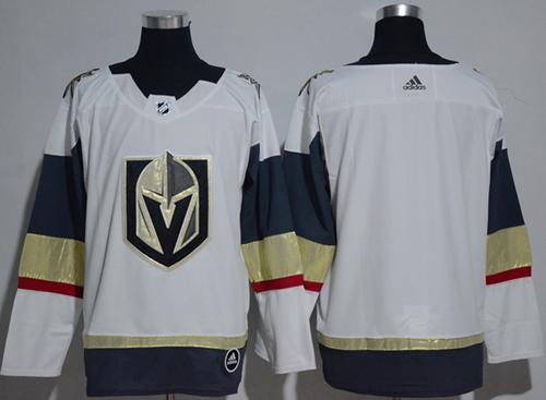 Adidas Vegas Golden Knights Blank White Road Authentic Women's Stitched NHL Jersey