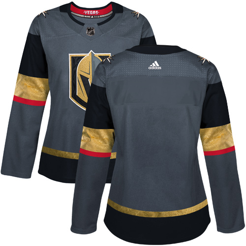 Adidas Vegas Golden Knights Blank Grey Home Authentic Women's Stitched NHL Jersey