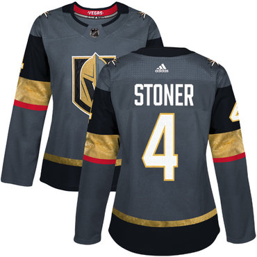 Adidas Vegas Golden Knights #4 Clayton Stoner Grey Home Authentic Women's Stitched NHL Jersey