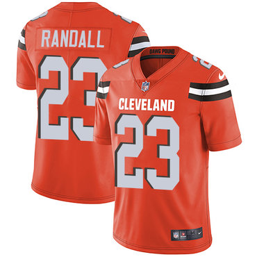 Nike Cleveland Browns #23 Damarious Randall Orange Alternate Men's Stitched NFL Vapor Untouchable Limited Jersey