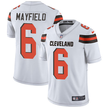 Nike Cleveland Browns #6 Baker Mayfield White Men\'s Stitched NFL Vapor Untouchable Limited Jersey