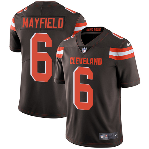 Nike Cleveland Browns #6 Baker Mayfield Brown Team Color Men\'s Stitched NFL Vapor Untouchable Limited Jersey