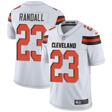 Nike Cleveland Browns #23 Damarious Randall White Men's Stitched NFL Vapor Untouchable Limited Jersey