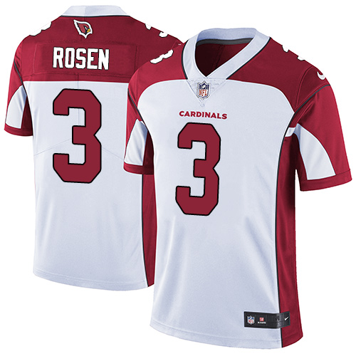 Nike Arizona Cardinals #3 Josh Rosen White Men's Stitched NFL Vapor Untouchable Limited Jersey