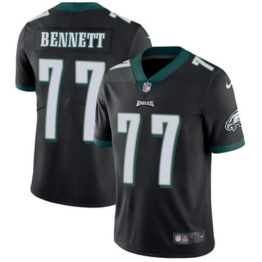 Nike Philadelphia Eagles #77 Michael Bennett Black Alternate Men's Stitched NFL Vapor Untouchable Limited Jersey