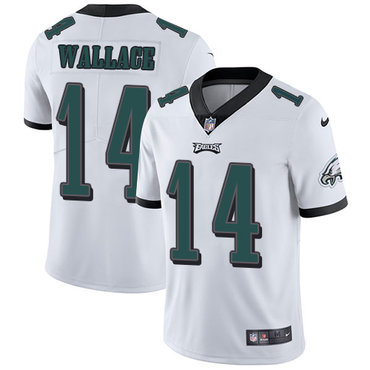 Nike Philadelphia Eagles #14 Mike Wallace White Men's Stitched NFL Vapor Untouchable Limited Jersey