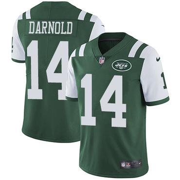 Nike New York Jets #14 Sam Darnold Green Team Color Men's Stitched NFL Vapor Untouchable Limited Jersey