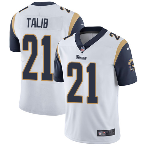 Nike Los Angeles Rams #21 Aqib Talib White Men\'s Stitched NFL Vapor Untouchable Limited Jersey