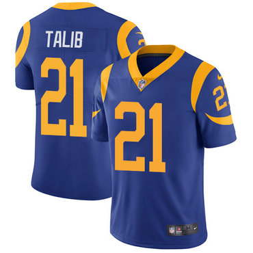 Nike Los Angeles Rams #21 Aqib Talib Royal Blue Alternate Men\'s Stitched NFL Vapor Untouchable Limited Jersey