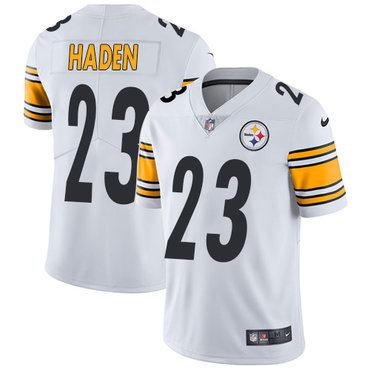 Nike Pittsburgh Steelers #23 Joe Haden White Men's Stitched NFL Vapor Untouchable Limited Jersey