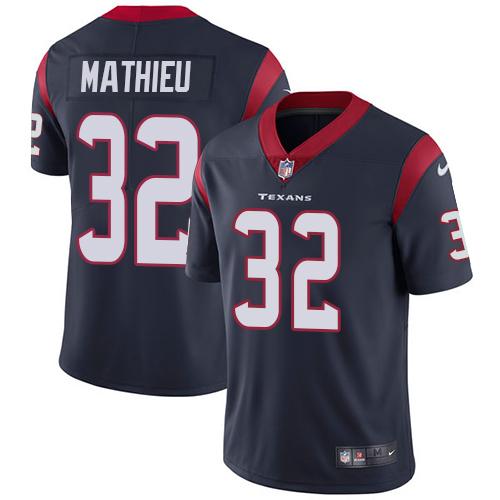 Nike Houston Texans #32 Tyrann Mathieu Navy Blue Team Color Men's Stitched NFL Vapor Untouchable Limited Jersey