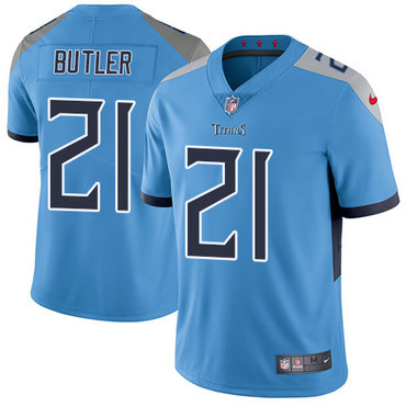 Nike Tennessee Titans #21 Malcolm Butler Light Blue Team Color Men's Stitched NFL Vapor Untouchable Limited Jersey