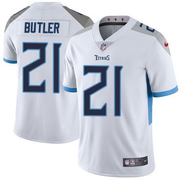 Nike Tennessee Titans #21 Malcolm Butler White Men's Stitched NFL Vapor Untouchable Limited Jersey