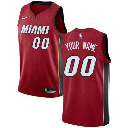 Men's Nike Miami Heat Red NBA Swingman Icon Edition Custom Jersey