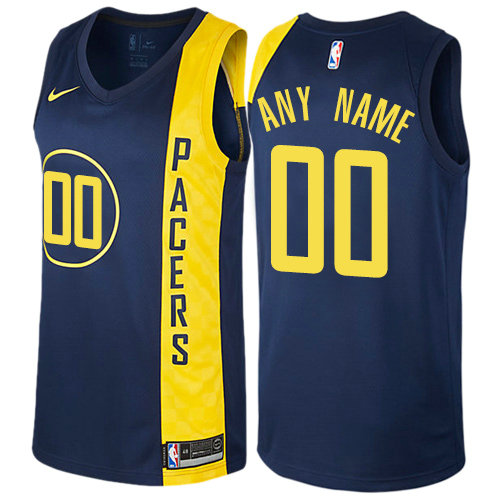 classic fit a23bd e5bc8 Men's Nike Indiana Pacers Customized Authentic Navy Blue NBA ...